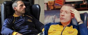 Steve Carrell (à esquerda), com a ajuda da maquiagem, constrói uma versão assustadora de John Du Pont (à direita).